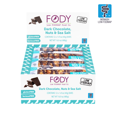 FODY Dark Chocolate Nut & Sea Salt Bar -12 pack