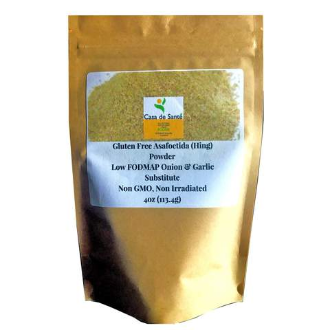 Gluten Free Asafoetida/Asafetida (Hing) powder - Tested Negative for 30 Allergens, Non GMO, Non Irradiated, 4 oz