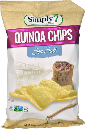 Simply 7 Quinoa Chips Gluten Free Sea Salt  3.5oz bag