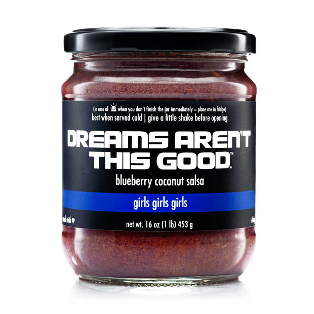 girls girls girls | blueberry coconut salsa