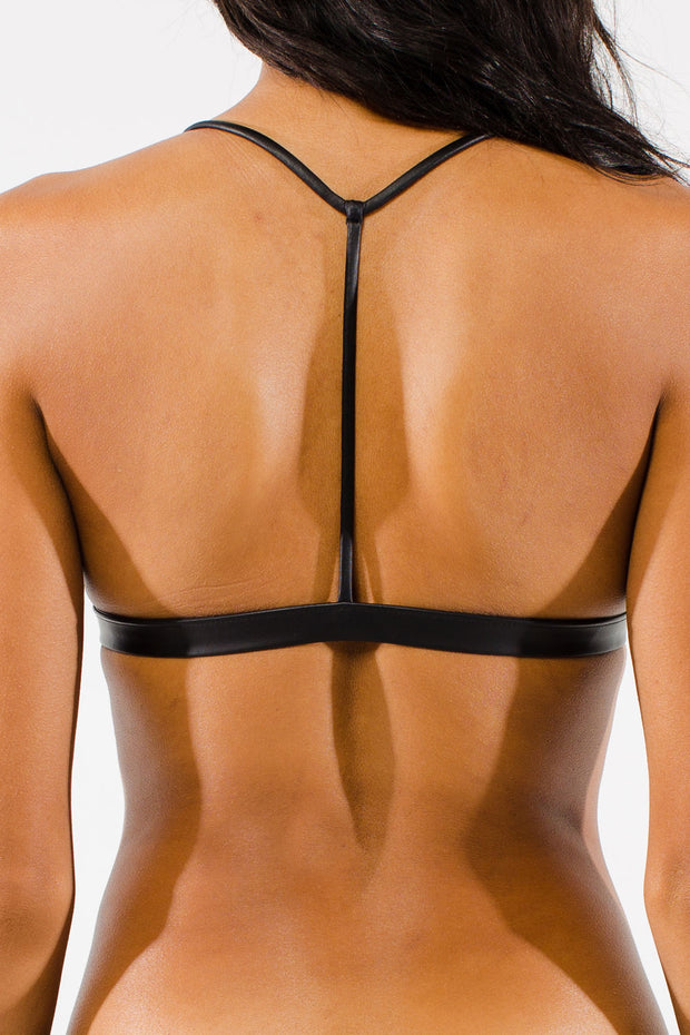 Leather & Grace | T- Back Top (Reversible)