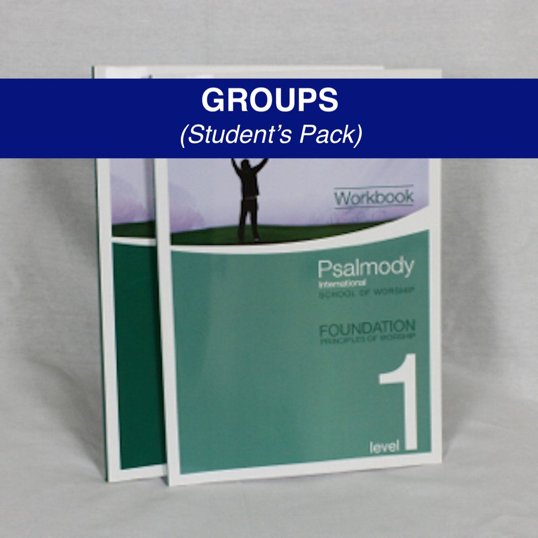 SCHOOL OF WORSHIP LEVEL ONE - GROUP STUDENT'S PACK (digital download)