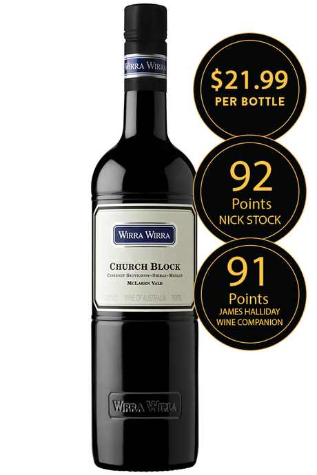 Wirra Wirra Church Block Cabernet Shiraz Merlot 2015