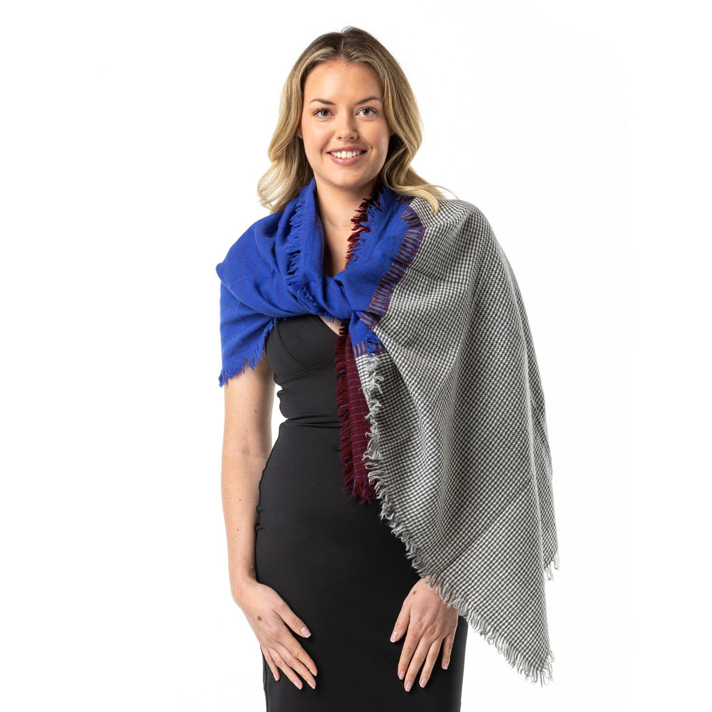 Japanese Contemporary Merino Wool Shawl - Opal Merino