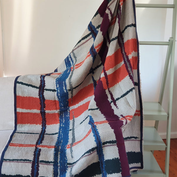 Merino Wool Blankets & Throws Geometric - Opal Merino