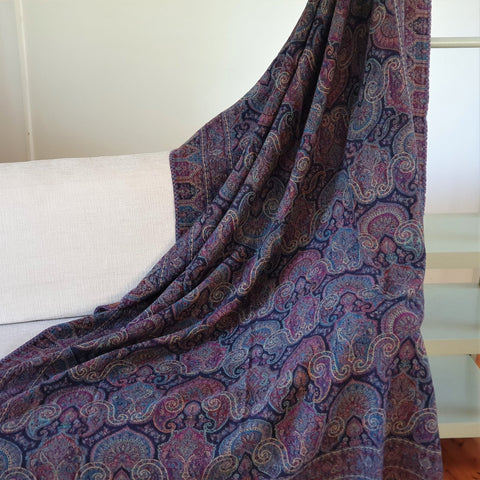 Merino Wool Blankets & Throws Intricate - Opal Merino