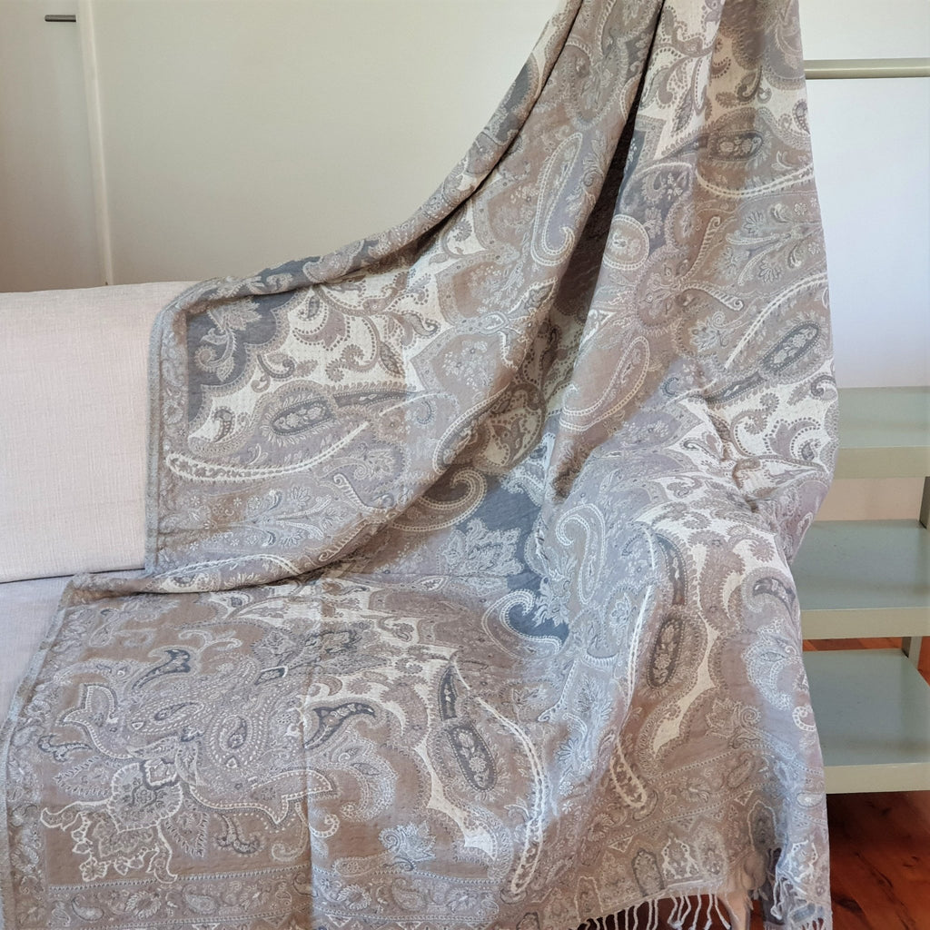 Merino Wool Blankets & Throws Neutral - Opal Merino