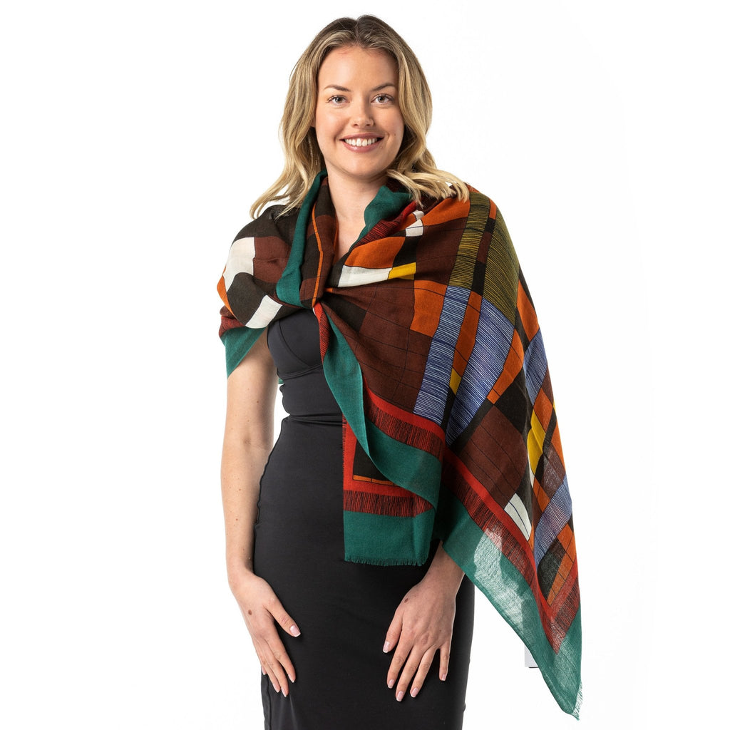 Out Back Desert Colours' Merino Wool Shawl - Opal Merino