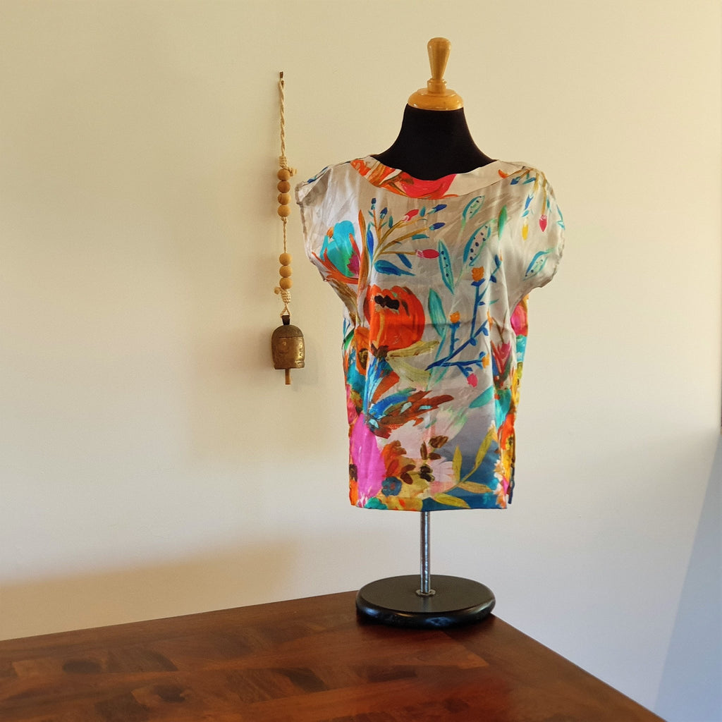 Reversible Travel Top Silk - Opal Merino