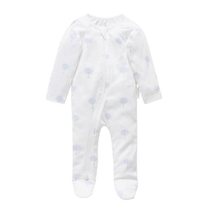 Purebaby Pale Blue Tree Growsuit