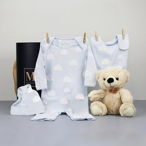 Cloud Baby Boy Hamper