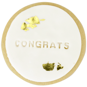 Congrats Shortbread Cookie with Gold Foil