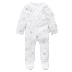 Purebaby Pale Grey Tree Growsuit