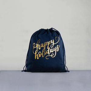 Happy Holidays Deluxe Christmas Sack