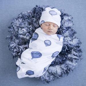 Snuggle Swaddle & Beanie Set in Cloud Chaser