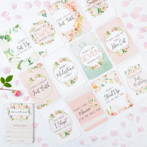 Belle and Grace Baby Floral Milestone Cards