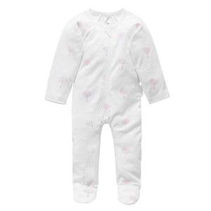 Purebaby Pale Pink Tree Growsuit