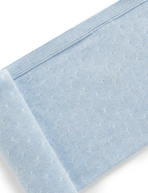 Purebaby Essentials Blanket in Pale Blue Melange
