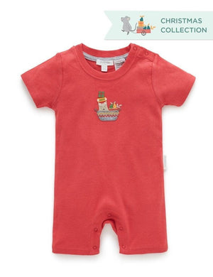 Purebaby Surprise Short Leg Growsuit