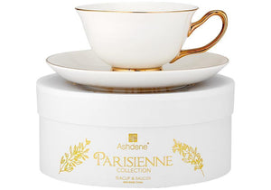 Parisienne White Cup & Saucer Set