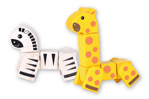 Discoveroo Snap Blocks - Giraffe and Zebra