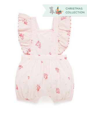 Purebaby Ruffle Romper for Christmas