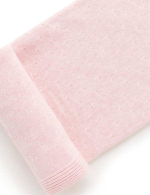 Purebaby Essentials Blanket in Pale Pink Melange
