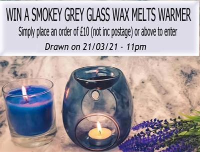 Win a Smokey Grey Glass Wax Melts Warmer!