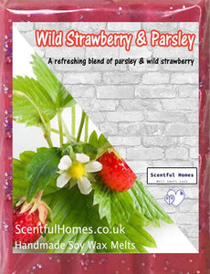 New Wax Melts ~ Wild Strawberry & Parsley