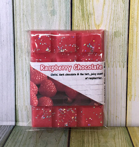 Raspberry Chocolate ~ Wax Melts Snap Bar ~ Shot Pot