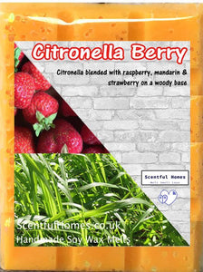 Citronella Berry ~ Scented Wax Melts