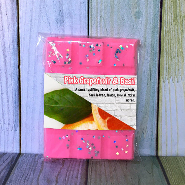 Pink Grapefruit & Basil ~ Fragranced Wax Melts