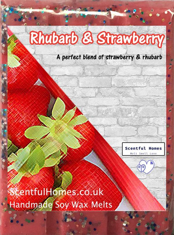 Rhubarb & Strawberry ~ Scented Wax Melts - Scentful Homes