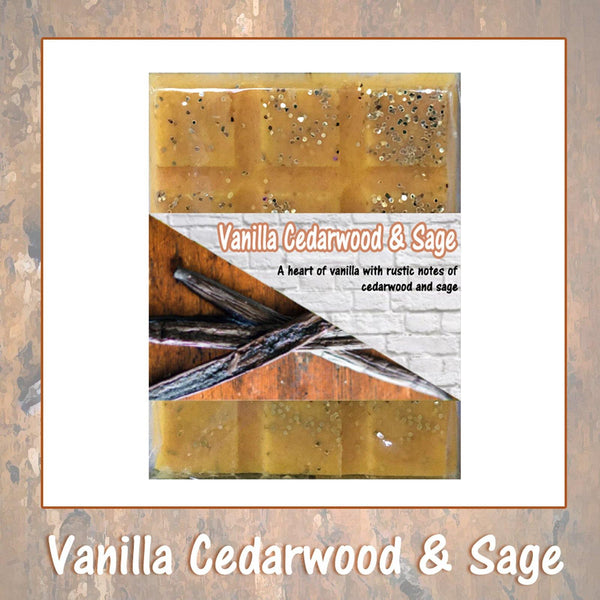 Vanilla Cedarwood & Sage ~ Fragrant Wax Melts