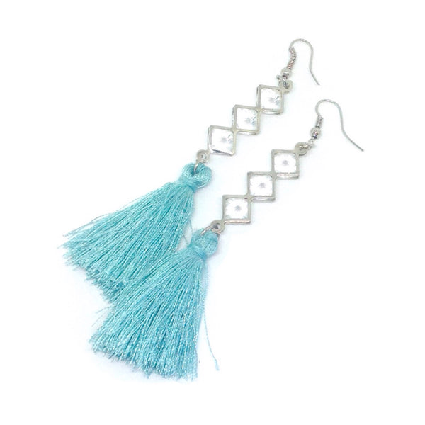 Tassel & Faux Stone Earrings