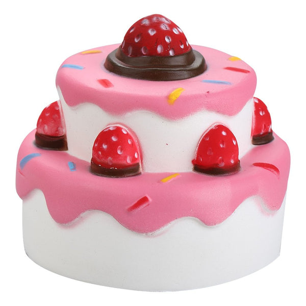 Jumbo Slow Rise Strawberry Cake Squishy