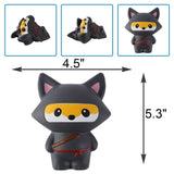 Jumbo Slow Rise Ninja Fox Squishy