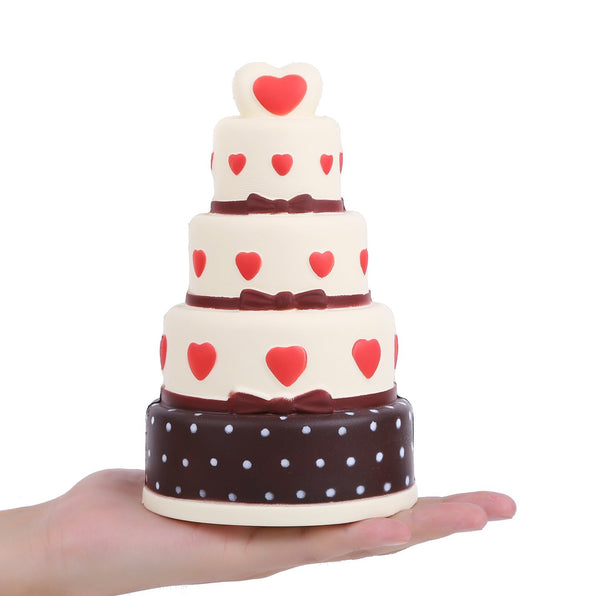 Jumbo Slow Rise Heart Cake Squishy