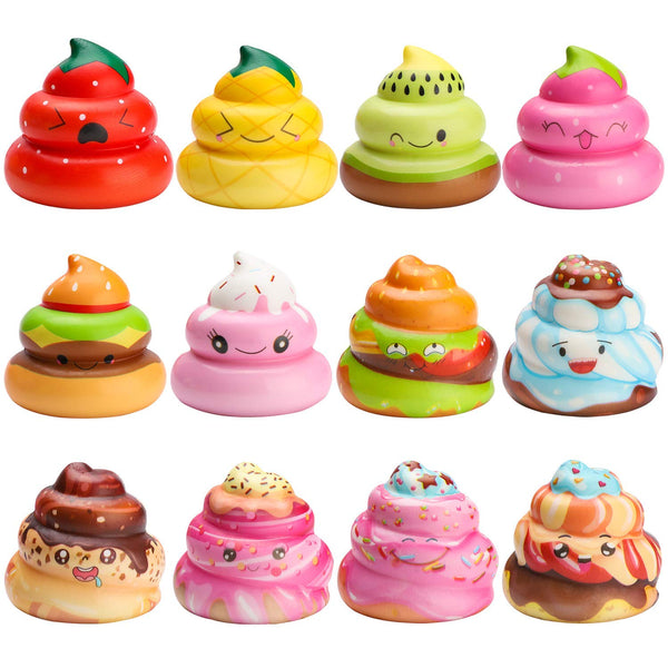 Slow Rise Kawaii Poo Squishies