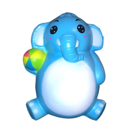 Slow Rising Blue Elephant & Ball Squishy