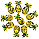 Iron-On Pineapple Patch