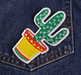 Iron-On Cactus Patches Set!