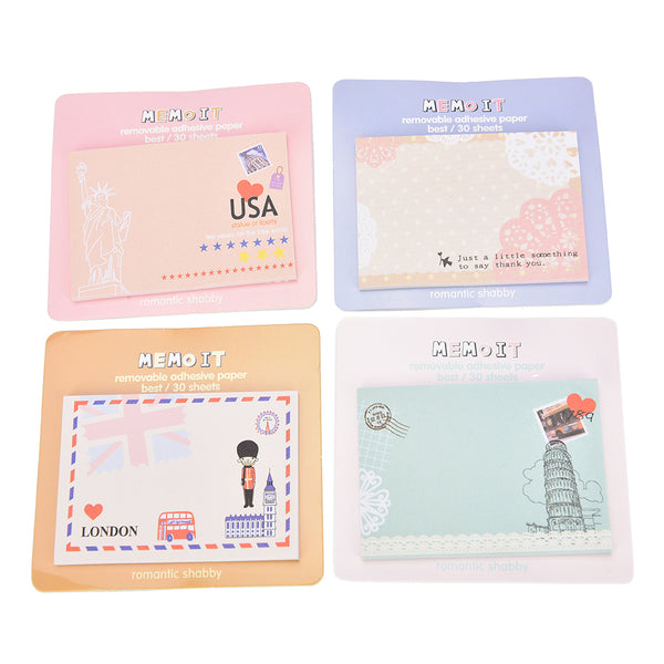 Travel Themed Kawaii Memo Pads