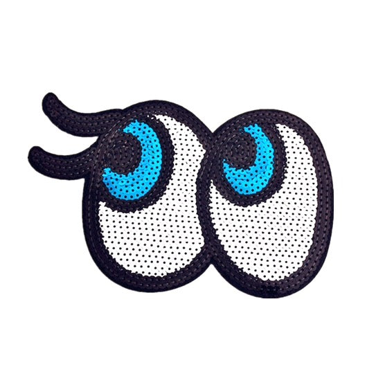Iron-On Sequin Eyes Patch