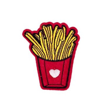 Iron-On French Fries Patch