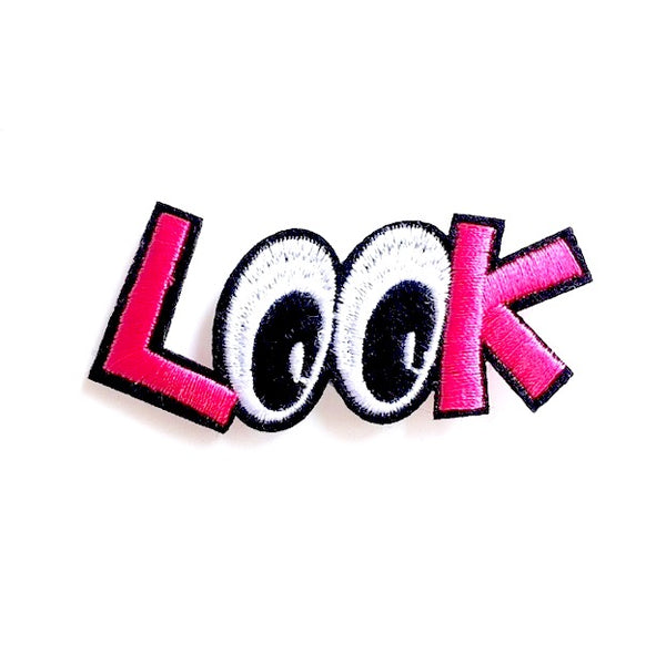 Iron-On 'Look' Eyes Patch