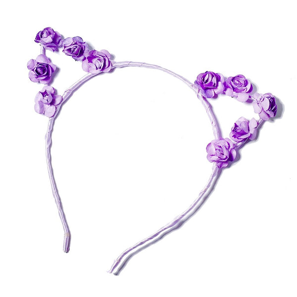 Floral Cat Ear Headbands