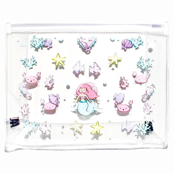 Mermaid Print Clear Makeup Bag