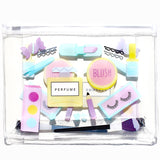 Cosmetic Print Clear Makeup Bag