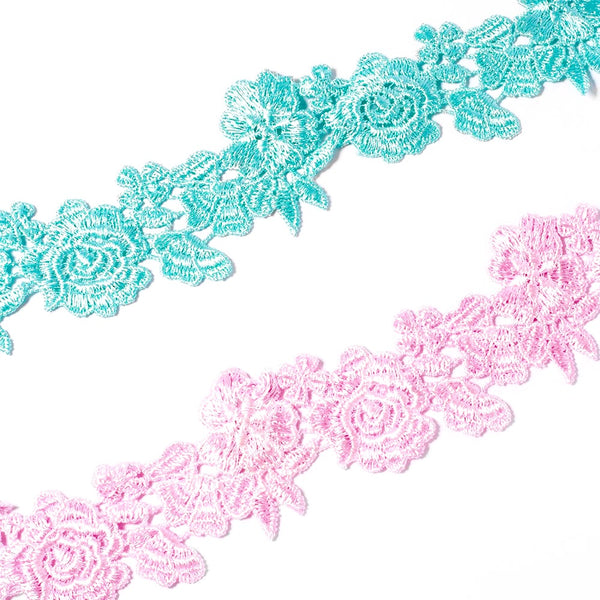 Wide Floral Lace Choker